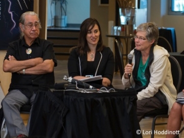 Photos for blog post - Cheryl w mic